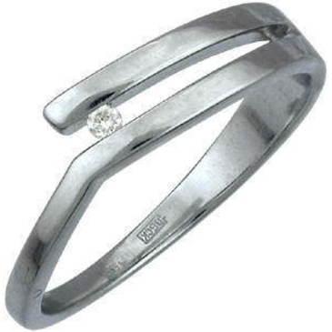 кольцо c бриллиантом из белого золота 13031424