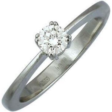 кольцо c бриллиантом из белого золота 13031429