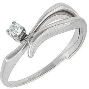 кольцо c бриллиантом из белого золота 13032508