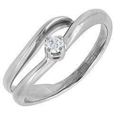 кольцо c бриллиантом из белого золота 13032511