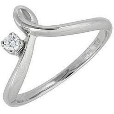 кольцо c бриллиантом из белого золота 13032512
