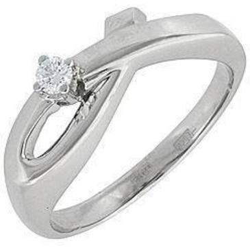 кольцо c бриллиантом из белого золота 13032516