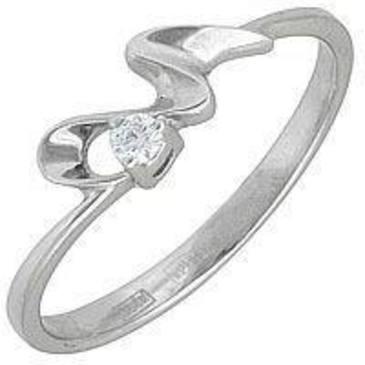 кольцо c бриллиантом из белого золота 13032606