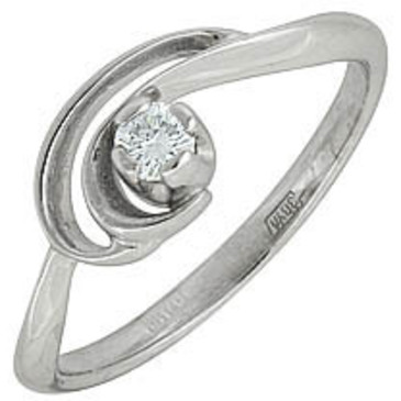 кольцо c бриллиантом из белого золота 13032613