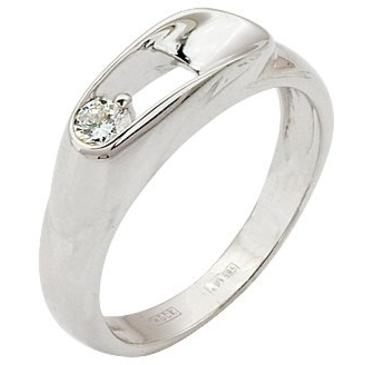 кольцо c бриллиантом из белого золота 13032947
