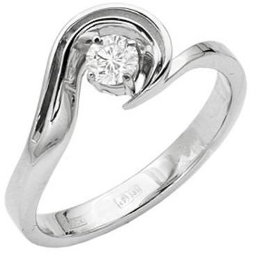 кольцо c бриллиантом из белого золота 13033160