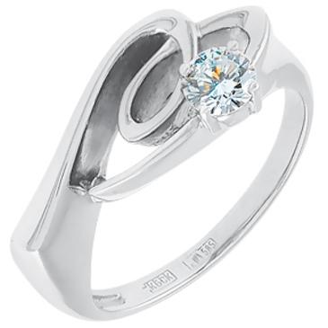 кольцо c бриллиантом из белого золота 13036160