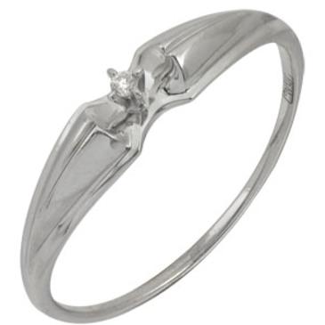 кольцо c бриллиантом из белого золота 13038073