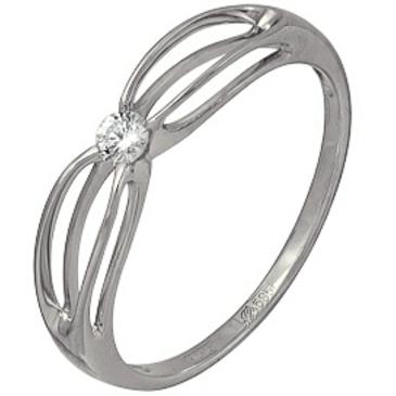 кольцо c бриллиантом из белого золота 13034335