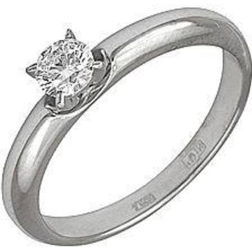 кольцо c бриллиантом из белого золота 18031559