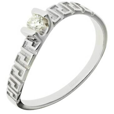 кольцо c бриллиантом из белого золота 13037846