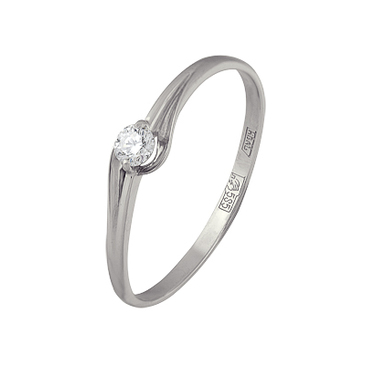 кольцо c бриллиантом из белого золота 13034515