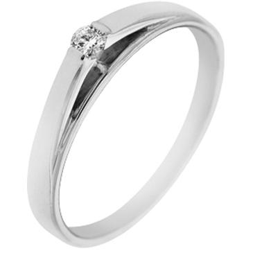 кольцо c бриллиантом из белого золота 13033804