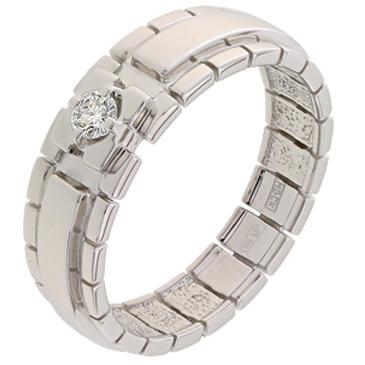 кольцо c бриллиантом из белого золота 13037889