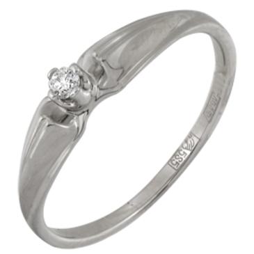 кольцо c бриллиантом из белого золота 13038141