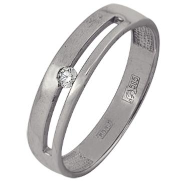 кольцо c бриллиантом из белого золота 13038294