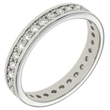 кольцо c дорожкой из бриллиантов из белого золота 18034539
