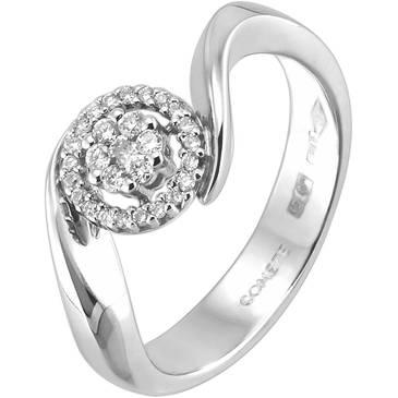 Кольцо Comete из белого золота ANB 1105