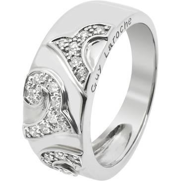 Кольцо Guy Laroche с бриллиантом из белого золота tf018gb3