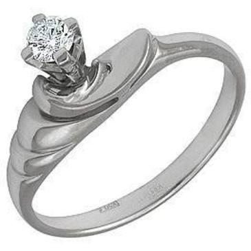 кольцо из белого золота 1303369