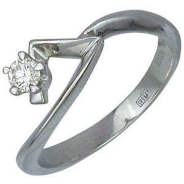 кольцо из белого золота 13031086