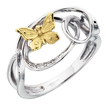 Кольцо 'НАТАЛИ' с бриллиантами из белого золота К-24051