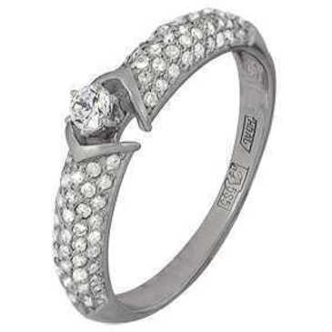 кольцо Нежность c бриллиантами из белого золота 13034331