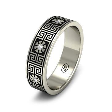 Кольцо обручальное с бриллиантами из белого золота из белого золота WD1008WD