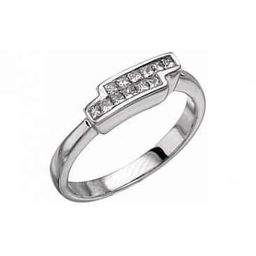 Кольцо с бриллиантами Invisible из белого золота 6829