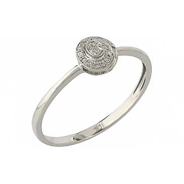 Кольцо с бриллиантами из белого золота 106083