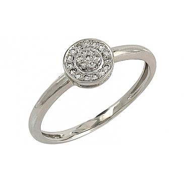 Кольцо с бриллиантами из белого золота 106683