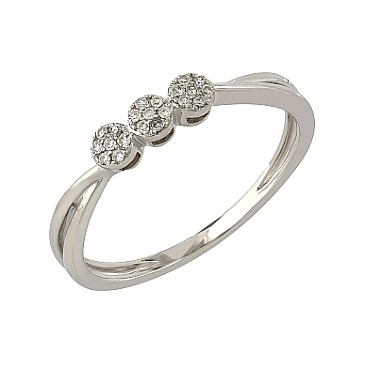 Кольцо с бриллиантами из белого золота 104954