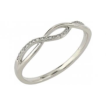 Кольцо с бриллиантами из белого золота 104961