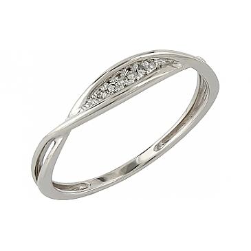 Кольцо с бриллиантами из белого золота 104963