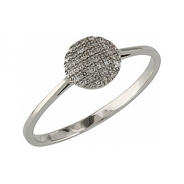 Кольцо с бриллиантами из белого золота 107087