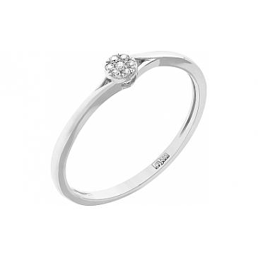 Кольцо с бриллиантами из белого золота 104946