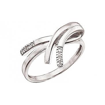 Кольцо с бриллиантами из белого золота 32186