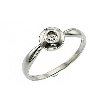 Кольцо с бриллиантами из белого золота 31551