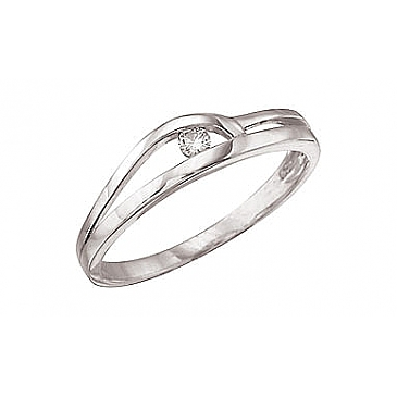 Кольцо с бриллиантами из белого золота 31544