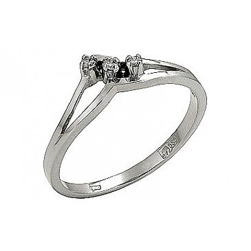 Кольцо с бриллиантами из белого золота 72665