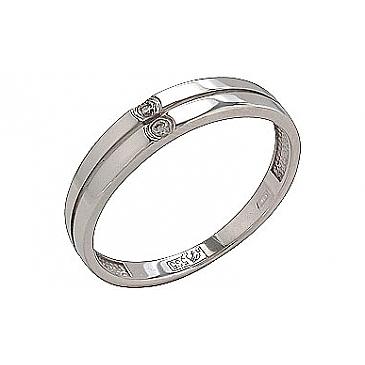 Кольцо с бриллиантами из белого золота 74038
