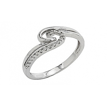 Кольцо с бриллиантами из белого золота 81925