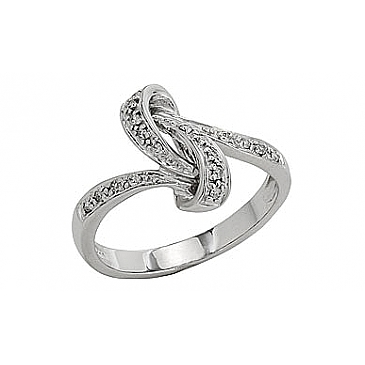 Кольцо с бриллиантами из белого золота 81946