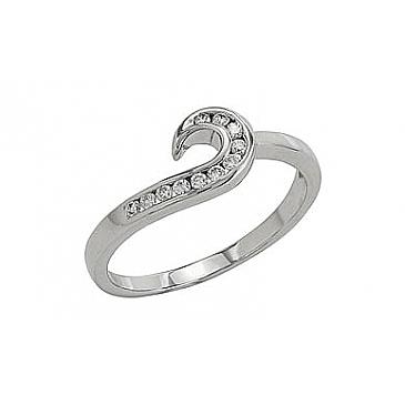 Кольцо с бриллиантами из белого золота 81939