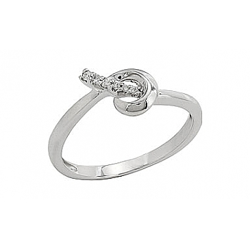 Кольцо с бриллиантами из белого золота 81953