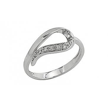 Кольцо с бриллиантами из белого золота 81948