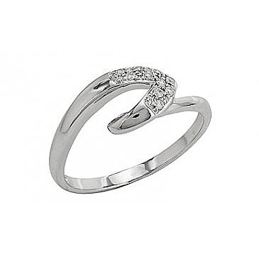 Кольцо с бриллиантами из белого золота 81959
