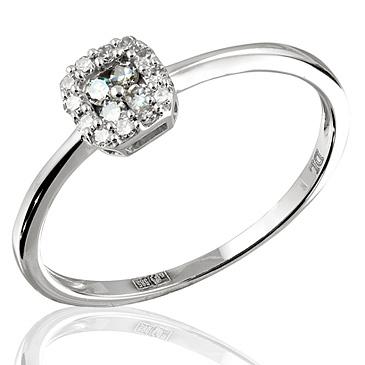 Кольцо с бриллиантами белое золото, арт: R05921