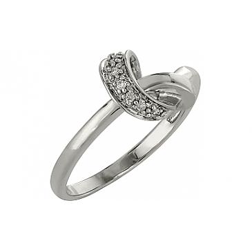 Кольцо с бриллиантами из белого золота 98175
