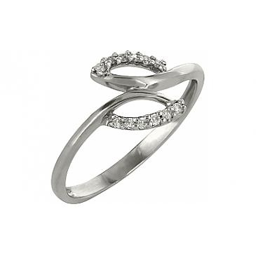 Кольцо с бриллиантами из белого золота 98179
